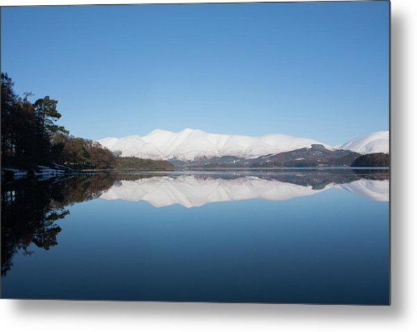 Derwentwater Winter Reflection Metal Print