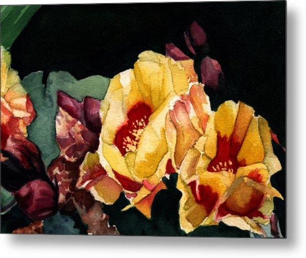 Desert Flowers Metal Print by Patricia Halstead