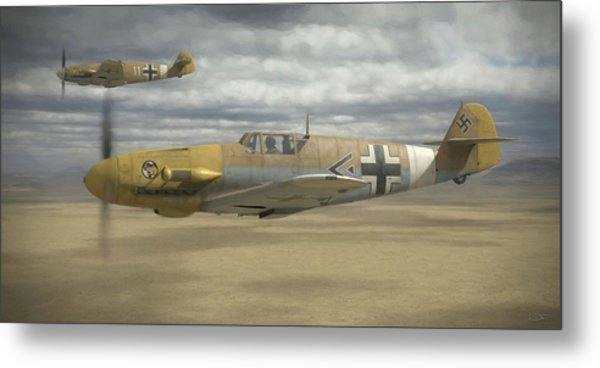 Desert Hunters - Painterly Metal Print