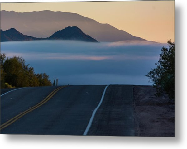 Desert Inversion Highway Metal Print