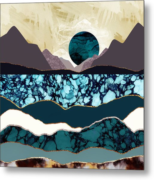 Desert Lake Metal Print