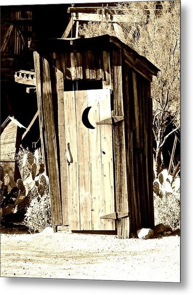 Desert Loo Metal Print by Cathy Dunlap