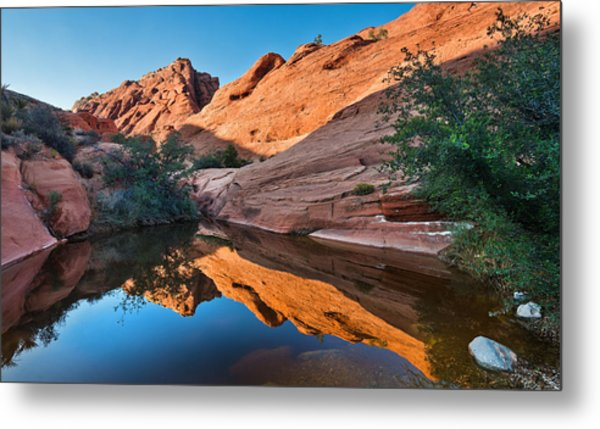 Desert Mirror Metal Print