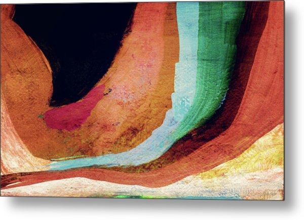 Desert Night-abstract Art By Linda Woods Metal Print