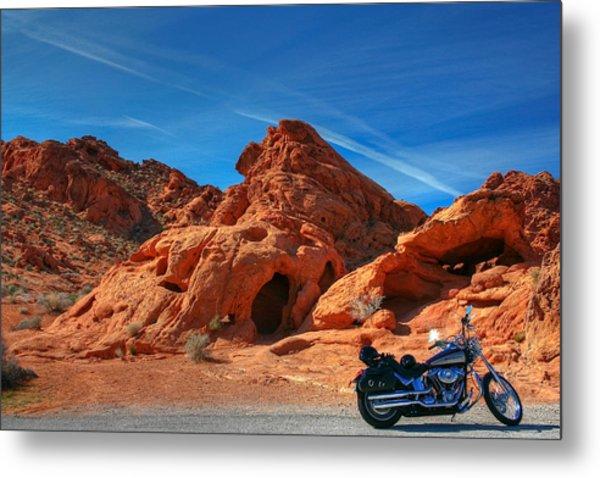 Desert Rider Metal Print