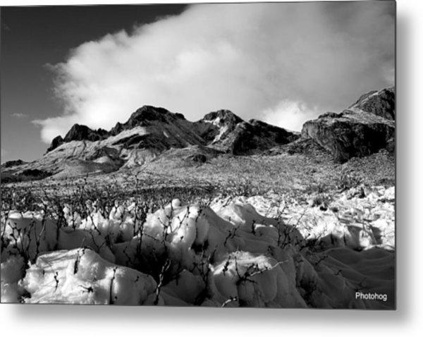 Desert Snow  Metal Print