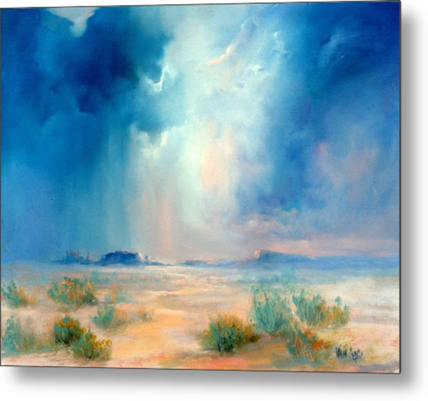 Desert Storm Metal Print by Sally Seago