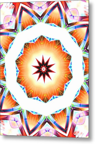 Desert Sun Star Of Peace And Joy Metal Print by Ritchard Mifsud