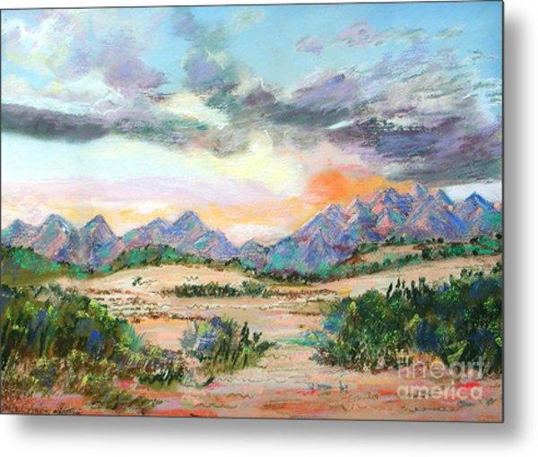 Desert Sunrise Metal Print by Lucinda  Hansen