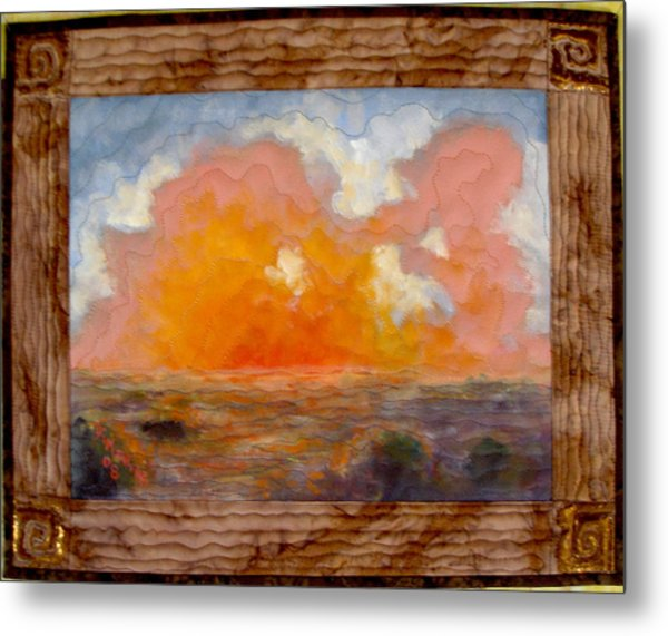 Desert Sunset Metal Print by Diane and Donelli  DiMaria