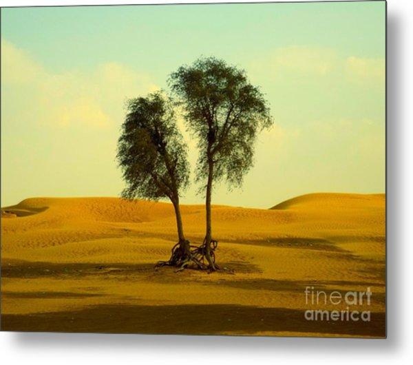 Desert Trees Metal Print