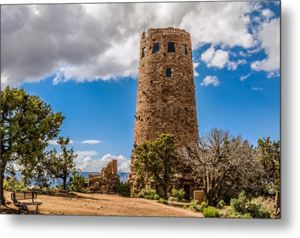 Desert View Tower Grand Canyon Metal Print