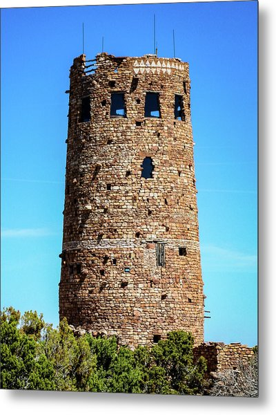 Desert View Watchtower At The Grand Canyon Metal Print