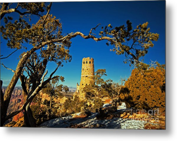 Desert View Watchtower, Grand Canyon National Park, Arizona Metal Print