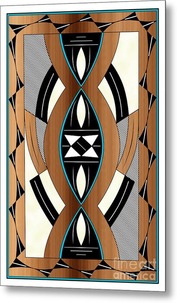 Southwest Collection - Design Two In Blue Metal Print