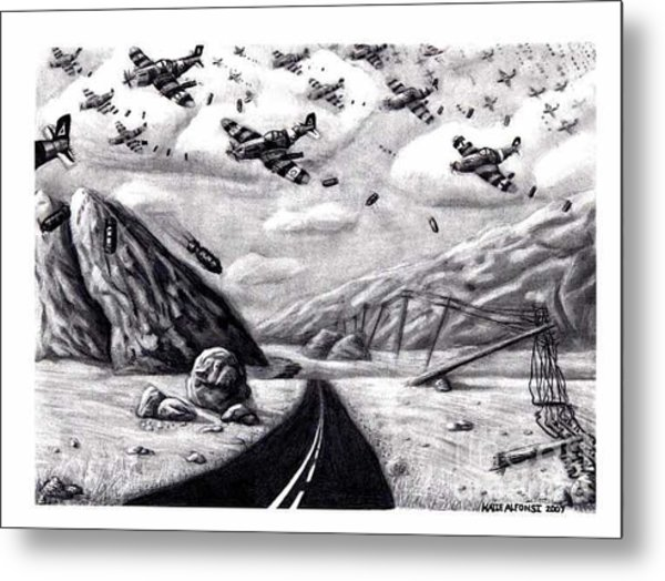 Desolate For Gunshy The Final Piece Metal Print by Katie Alfonsi