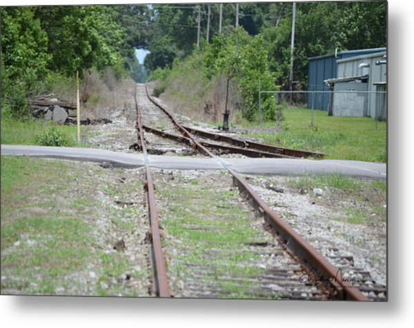 Desolate Rails Metal Print