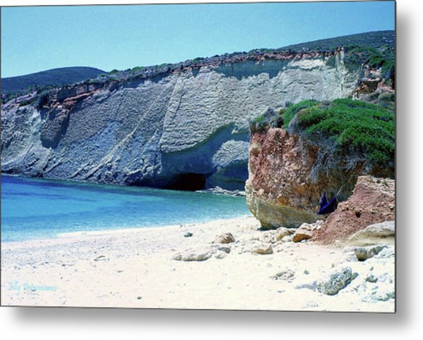 Desolated Island Beach Metal Print