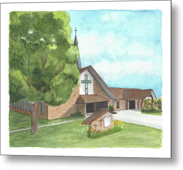 De Soto Baptist Church Metal Print