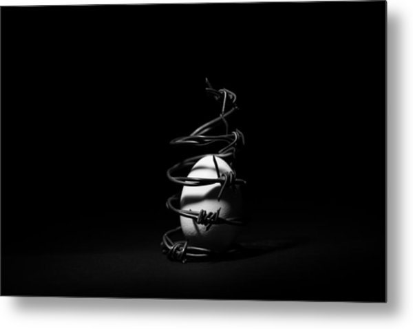 Destined To Be A Prisoner For Life - The Dark Side Of It All Metal Print