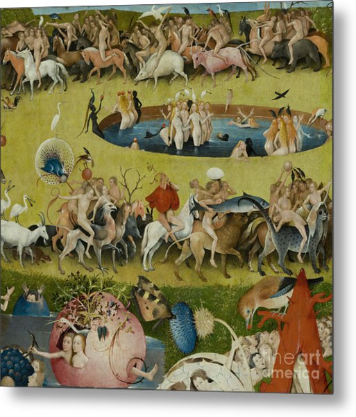 Detail From The Central Panel Of The Garden Of Earthly Delights Metal Print