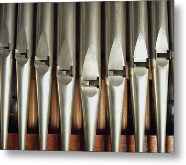 Detail Of A Pipe Organ Metal Print