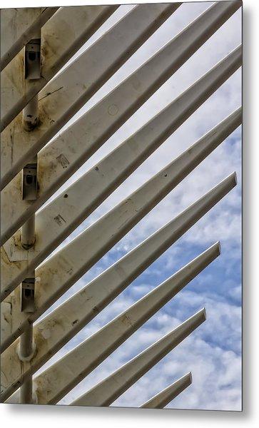 Detail Of Construction Metal Print by Robert Ullmann