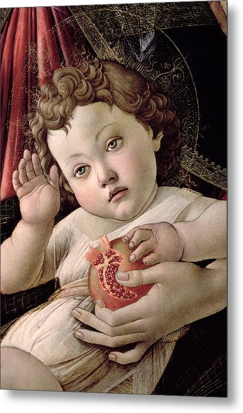 Detail Of The Christ Child From The Madonna Of The Pomegranate  Metal Print