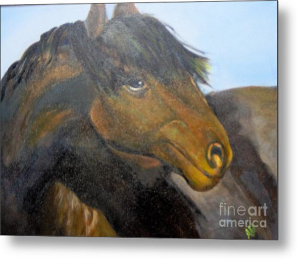 Metal Print featuring the painting Determination by Saundra Johnson