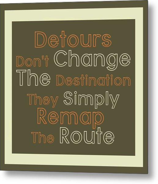 Detour Metal Print by Richard Homawoo