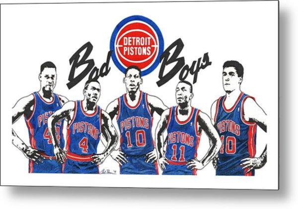 Detroit Bad Boys Pistons Metal Print
