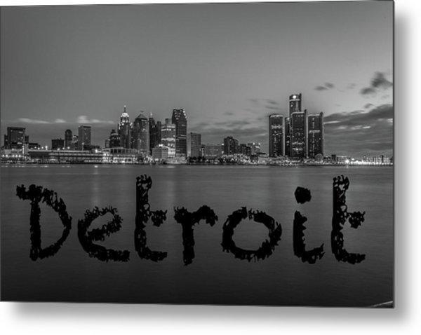 Detroit City  Metal Print