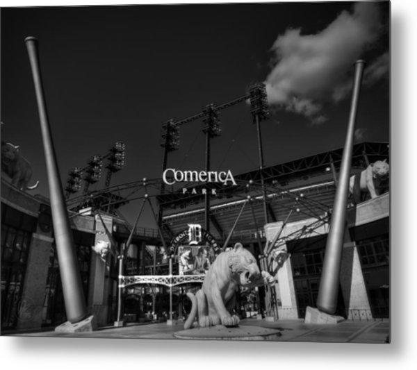 Detroit - Comerica Park 001 Bw Metal Print