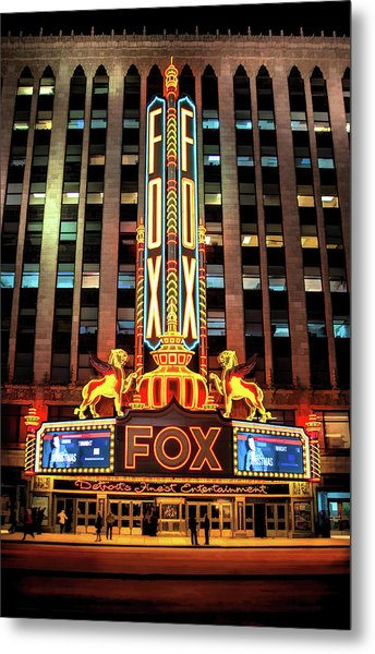 Detroit Fox Theatre Marquee Metal Print
