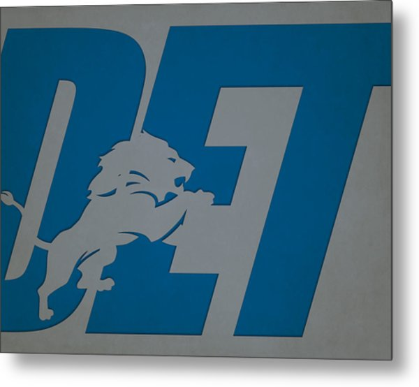 Detroit Lions City Name Metal Print