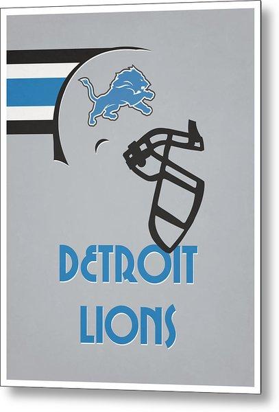 Detroit Lions Team Vintage Art Metal Print