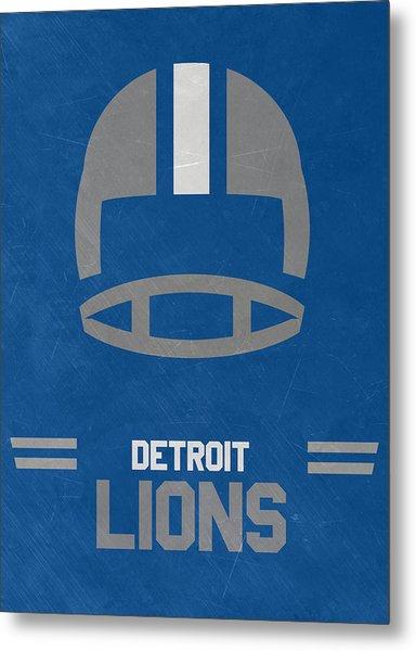 Detroit Lions Vintage Art Metal Print