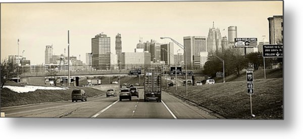 Detroit Michigan Metal Print