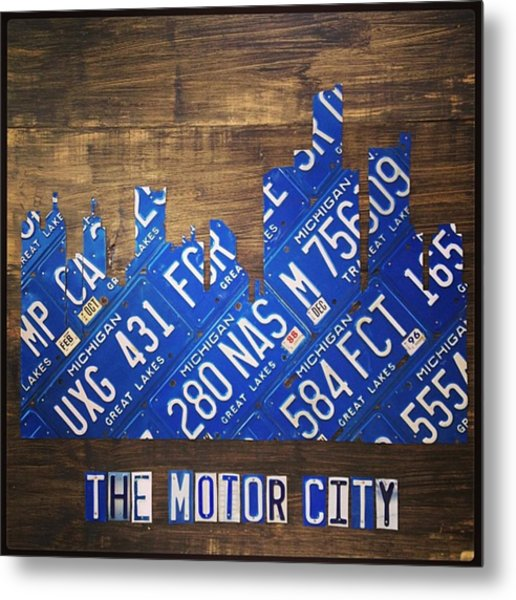 #detroit #themotorcity #michigan #city Metal Print