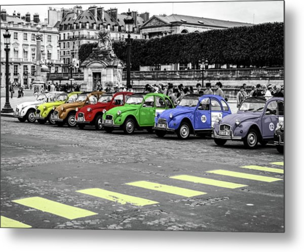 Deux Chevaux In Color Metal Print