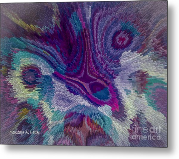 Genetic Modified Iris Metal Print