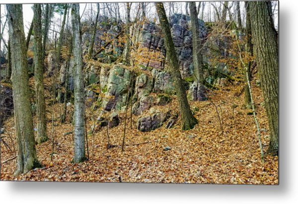 Metal Print featuring the photograph Devils Lake Rock Formation  by Ricky L Jones