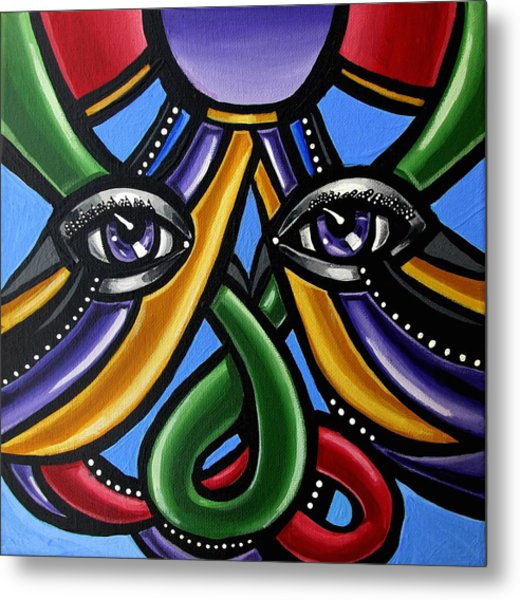 Colorful Eye Art Paintings Abstract Eye Painting Chromatic Artwork Metal Print