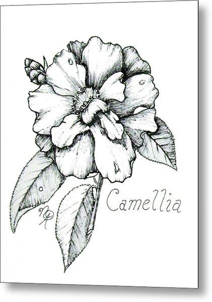 Dew Kissed Camellia Metal Print