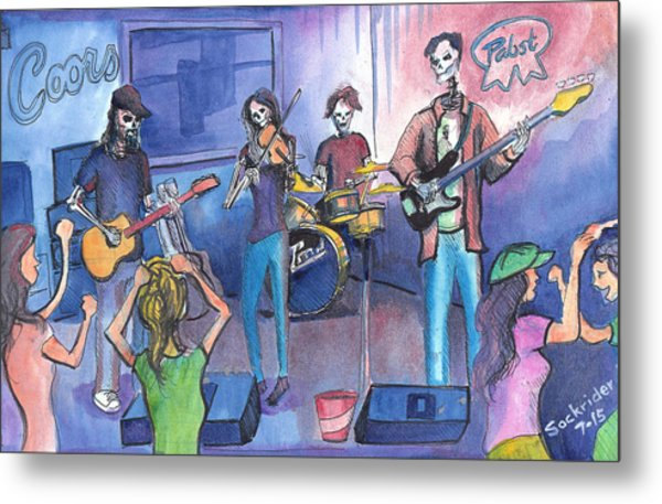 Dewey Paul Band Metal Print
