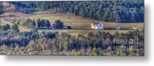 Dh Day Farm From Overlook Metal Print
