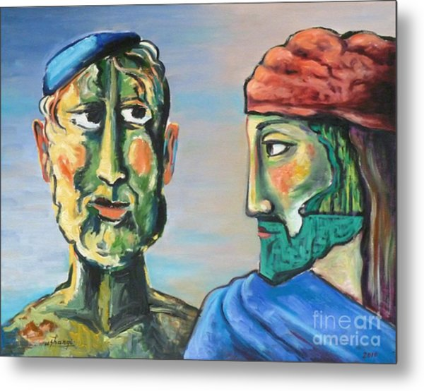 Dialogue Metal Print by Ushangi Kumelashvili