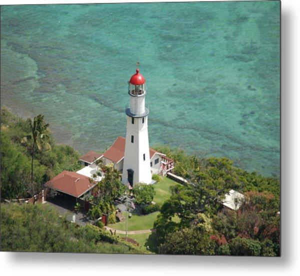 Diamond Head Lighthouse 2 Metal Print
