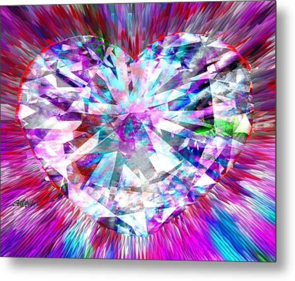 Diamond Heart Metal Print
