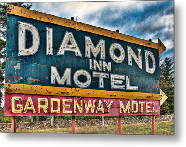 Diamond Inn Motel Sign Metal Print